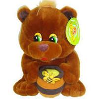 Мягкая игрушка Медведь с бочонком мёда A5-20402-2,мягкие медведи,подарки для любимых девушек и детей