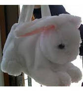 Плюшевая сумочка для подарка Зайчик №2406-30,игрушка-рюкзак,детские подарки,товары для детей