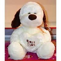 Мягкая игрушка Собака с сердцем №2063-40, мягкие игрушки для детей и взрослых,качественный,праздничные подарки