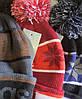 Шапка женская с отворотом и балабоном Adidas, фото 2