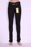 Утепленные женские лосины черного цвета (код 827), фото 1