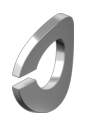 DIN 128 A : нержавеющая шайба пружинная, форма А (изогнутая)