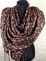 Шерстяной палантин Леопард (1)