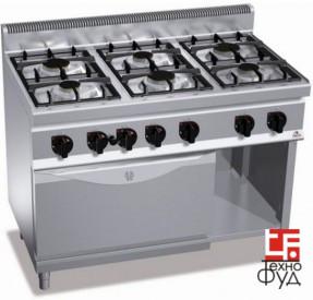 Плита промышленная G7F6E+FG1 Bertos