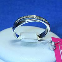 Кольцо из серебра с цирконом 1066