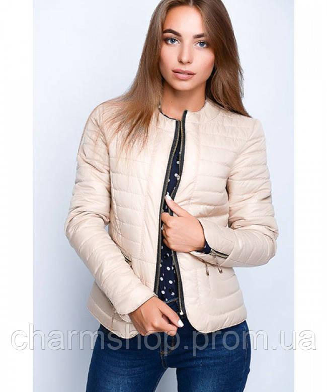 e805144df9a Женская стеганая куртка-пиджак -