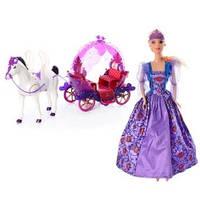 Карета с лошадью (ходит) и куклой 234A (звук, свет)