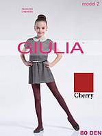 Детские ажурные колготки 80DEN (Cherry (Красный))