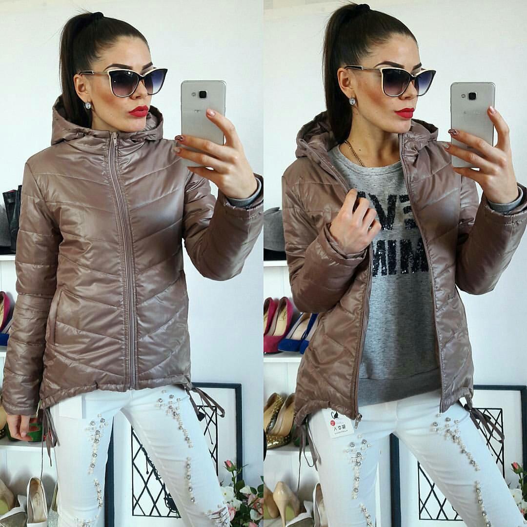 Куртка-парка женская, модель  210, кофе
