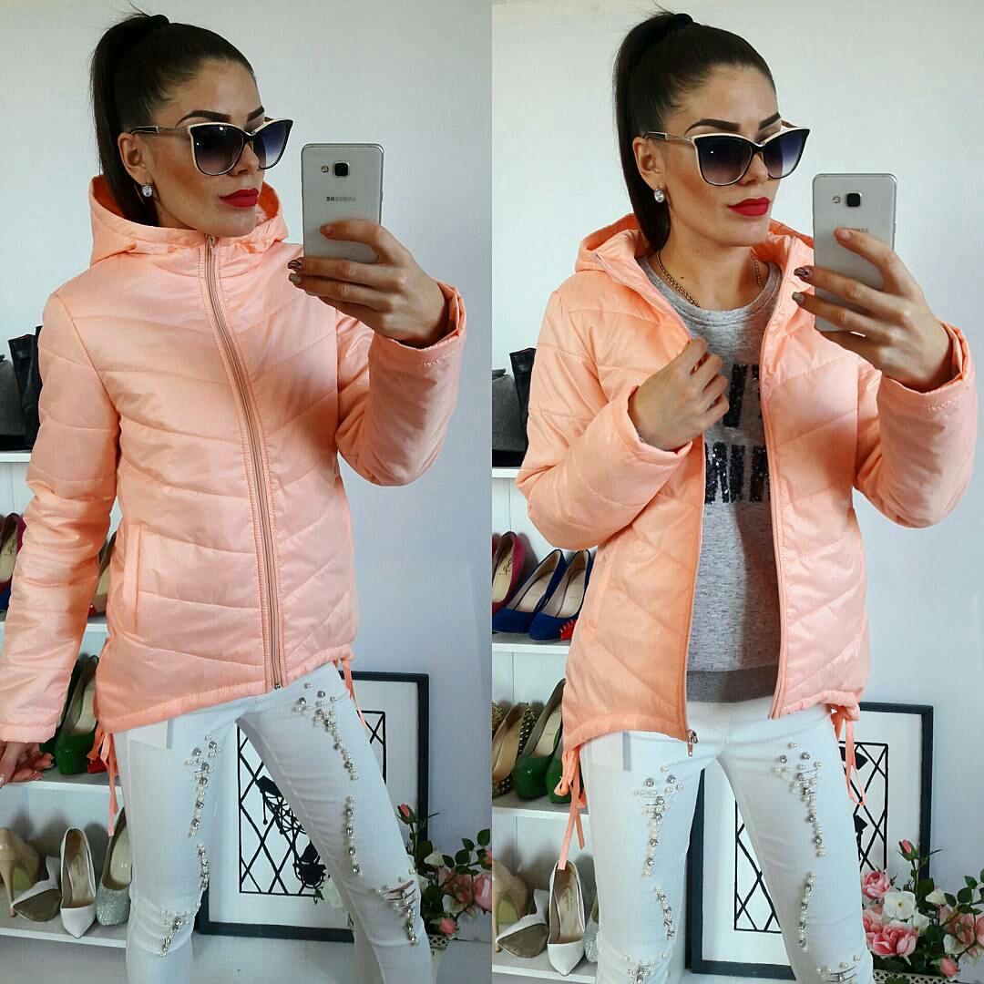 Куртка-парка женская, модель  210, персик