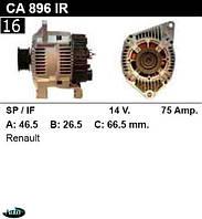 Генератор Renault Laguna Espace 75Амр.CA896IR