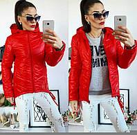 Куртка-парка женская, модель  210, красная, фото 1