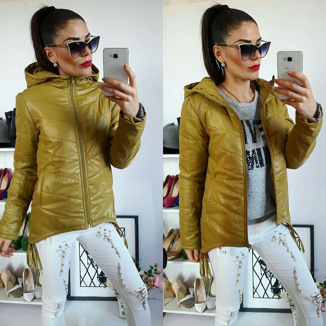Куртка-парка женская, модель  210, горчичная