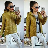 Куртка-парка женская, модель  210, горчичная, фото 1