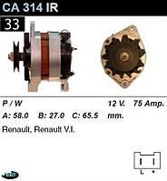 Генератор Renault/ Opel 75 Амр. CA314IR