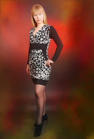 Платье трикотажное на манжете (ПЛ 707584)