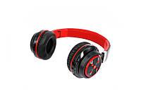 Складная беспроводная Bluetooth гарнитура В-07 с Mp3  Красный