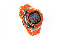 Стильные спортивные мужские часы с пульсометром Sport Track  Оранжевый