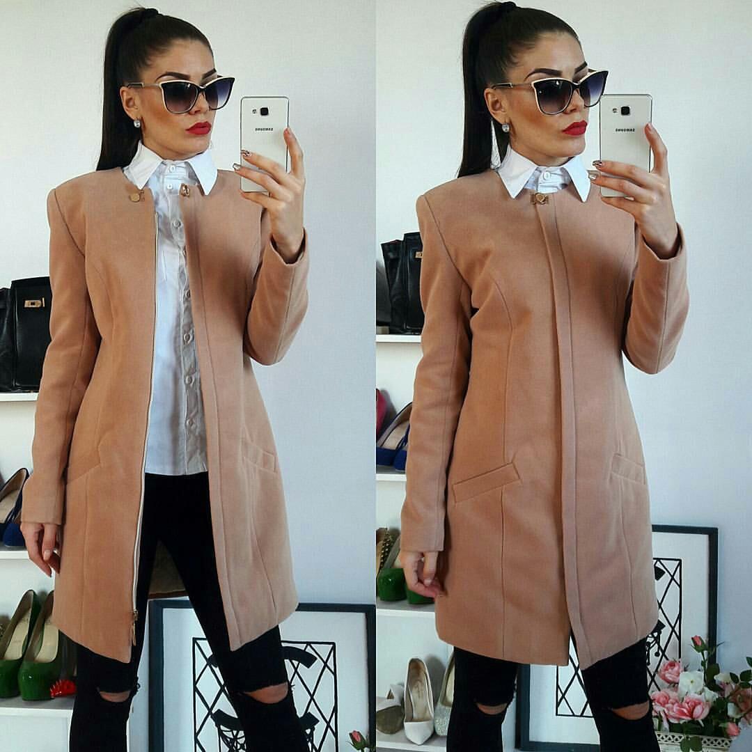 Пальто женское, модель  739/2, беж