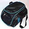 Стильная спортивная сумка ADIDAS LS-530  (черно-голубой)