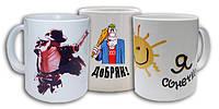 Нанесение логотипов (фото ) на сублимационные чашки оптом