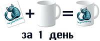 Нанесение рисунка на сублимационную чашку. ваш дизайн-наше исполнение