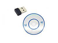 Мини USB WIFI сетевой адаптер Realtek RTL8188ETV 150Mbps Без коробки. Чип  RTL8188ETV