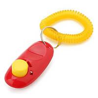 Кликер для дрессировки собак, с кнопкой и браслетом