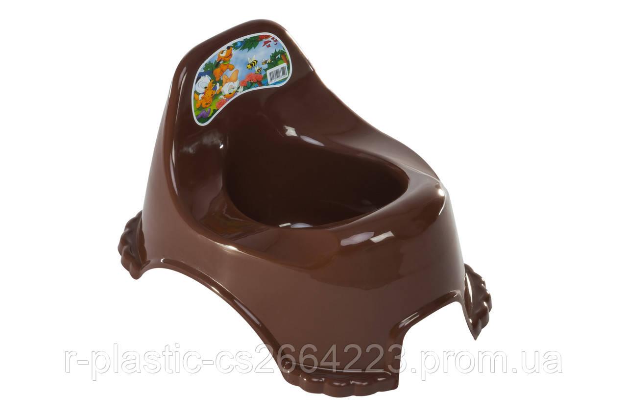 Горшок детский R_plastic коричневый