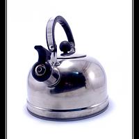 Чайник газовый Kettle 3, чайник со свистком из нержавеющей стали, компактный чайник для кухни 3л