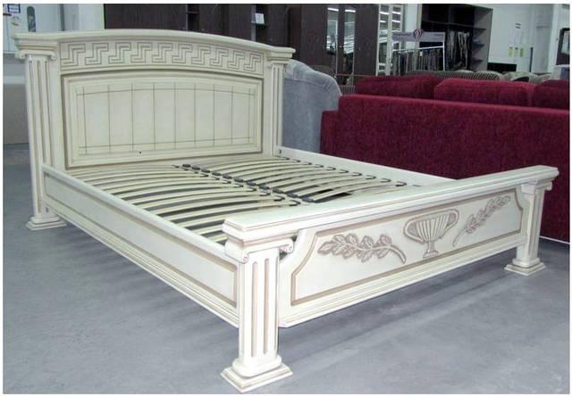 Кровать Афины. Резьба по дереву. Элитная мебель из натурального дерева