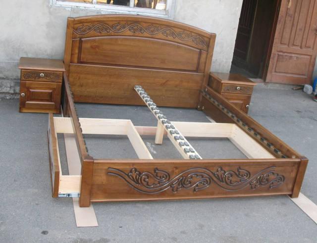 Кровать Виктория с выдвижными ящиками и прикроватными тумбами