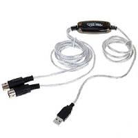 MIDI интерфейс кабель USB для подключения музыкальной клавиатуры