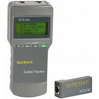 Тестер сети rj45 SC8108, проверка целостности кабеля