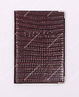 Кожаная обложка на паспорт Desisan 1003-3 Коричневый