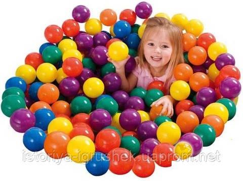 Шарики (мячики) цветные для сухого бассейна Intex 49602, 6.5 см (100 шт) - Максимка в Харькове