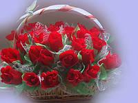 """Букет из конфет""""Алые розы"""""""
