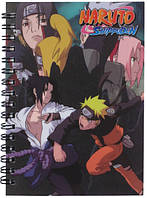 Блокнот Наруто (Naruto) на спирали в пластиковой обложке 80л
