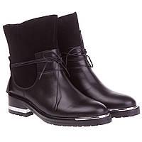 Женские ботинки beratroni (стильное сочетание кожи и замши, низкий ход, интересный дизайн, модные, качественны