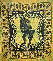 Покрывало Кама Сутра зеленое