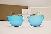 Женские солнцезащитные очки Dior 0204 s голубая линза, фото 1