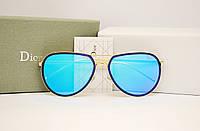 Женские солнцезащитные очки Dior 15103 S голубая линза, фото 1