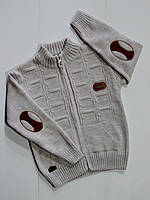 Вязаный свитер на молнии для мальчика 4,6,8 лет!