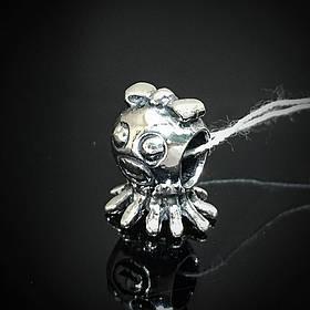 Шарм серебряный Осьминожка для браслета Пандора