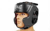 Шлем боксерский в мексиканском стиле кожа черный EVERLAST BO-5241-BK