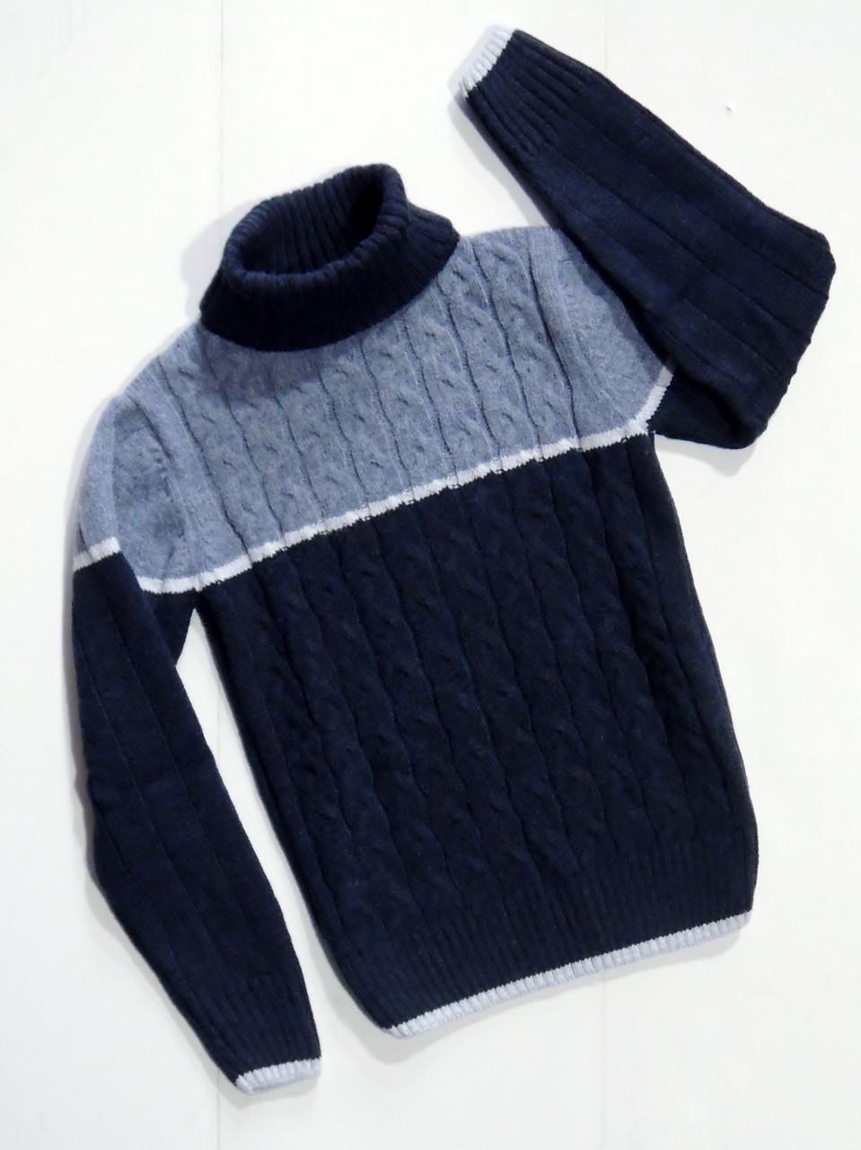 вязаный свитер для мальчика 6810121416 лет цена 420 грн
