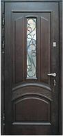 Входные двери со стеклом и ковкой М-1