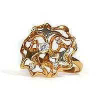 Золотое кольцо с цирконием 89307