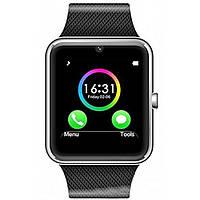 Умные часы Smart watch GT08 silver+black, серебряный корпус + черный браслет