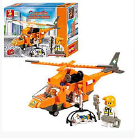 Конструктор Sluban Служба спасения: Вертолет спасателей, 160 деталей арт. M38-B0102, фото 1